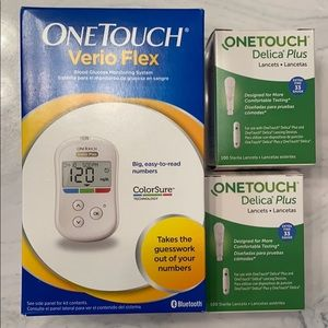 One Touch Verio Flex w/ lancets